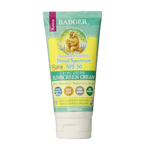 BADGER SPF 30 Baby Sunscreen Cream (Best Sunscreen for Toddlers with Eczema)