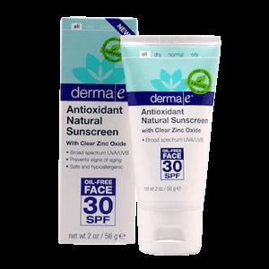 derma e Antioxidant Natural Sunscreen SPF 30