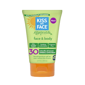 Kiss My Face Organics Face & Body Sunscreen SPF 30