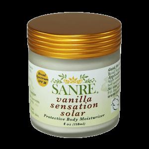SanRe Organic Skinfood Vanilla Sensation Solar Protective Body Moisturizer SPF 30
