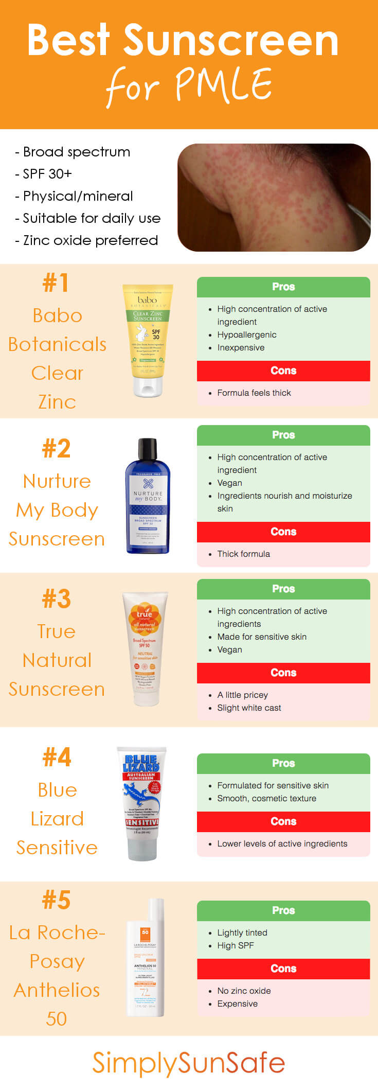 Best Sunscreen for PMLE Pinterest