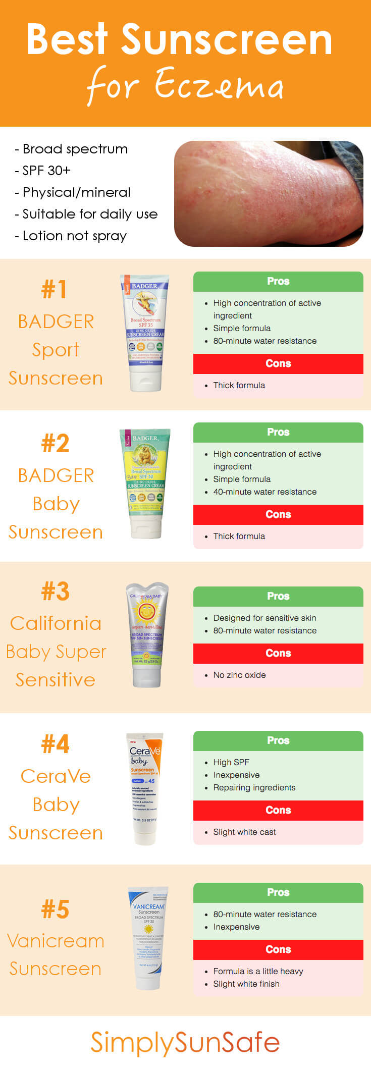 Best Sunscreen for Eczema Pinterest