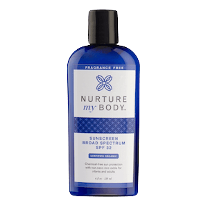 Nurture My Body Organic Sunscreen SPF 32