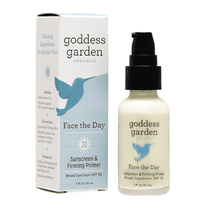 Goddess Garden Face the Day Sunscreen and Firming Primer SPF 30