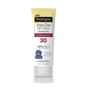 Neutrogena Sheer Zinc Dry-Touch Sunscreen SPF 30