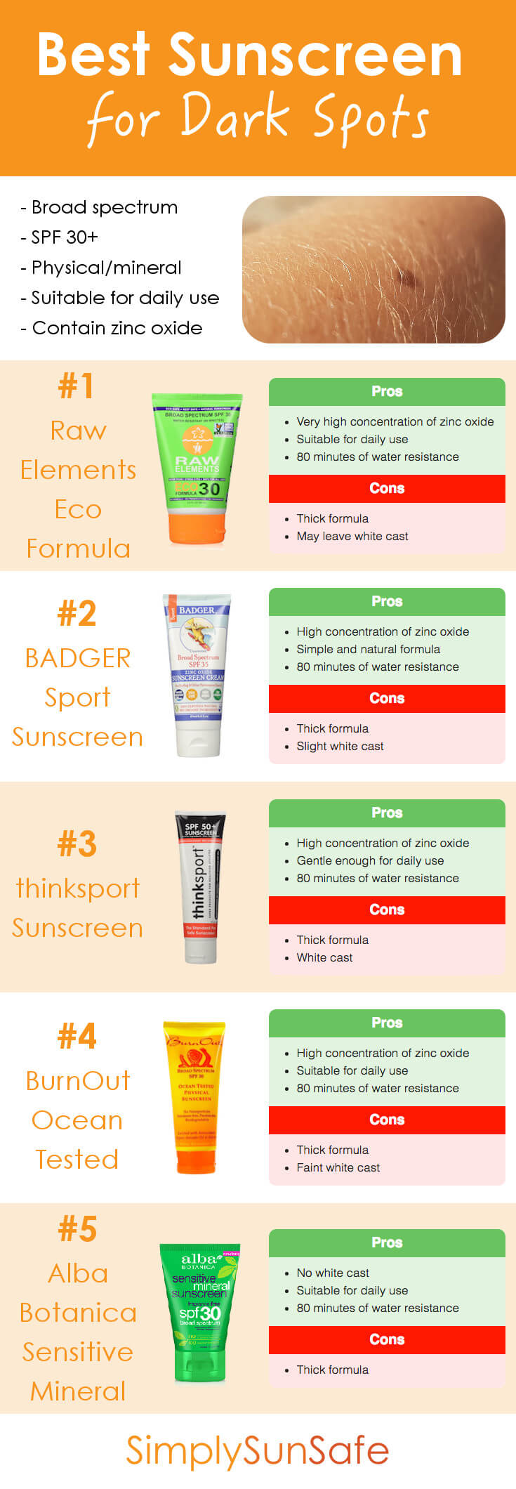 Best Sunscreen for Dark Spots Pinterest