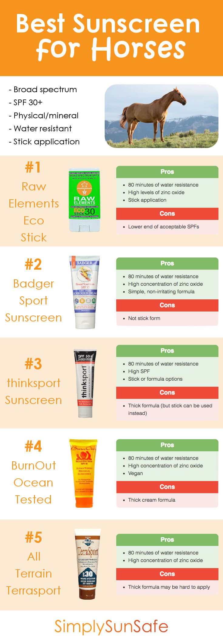 Best Sunscreen for Horses Pinterest