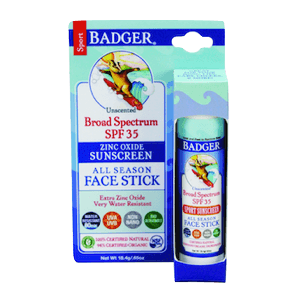 Badger Sunscreen All Season Face Stick SPF 30