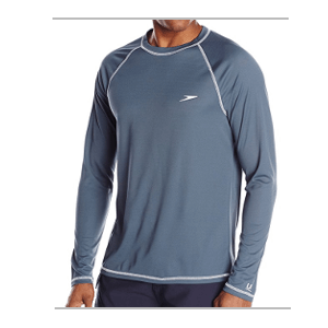 Speedo Men's UPF 50+ Easy Long Sleeve Rash Guard Swim Tee
