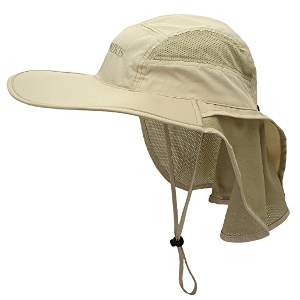 Lenikis Outdoor Activity Sun Hat with Neck Flap
