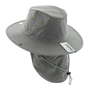 JFH Wide Brim Bora Booney Safari Summer Hat with Neck Flap