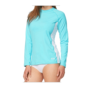 Baleaf Women's Long Sleeve Splice Rashguard Swim Shirt