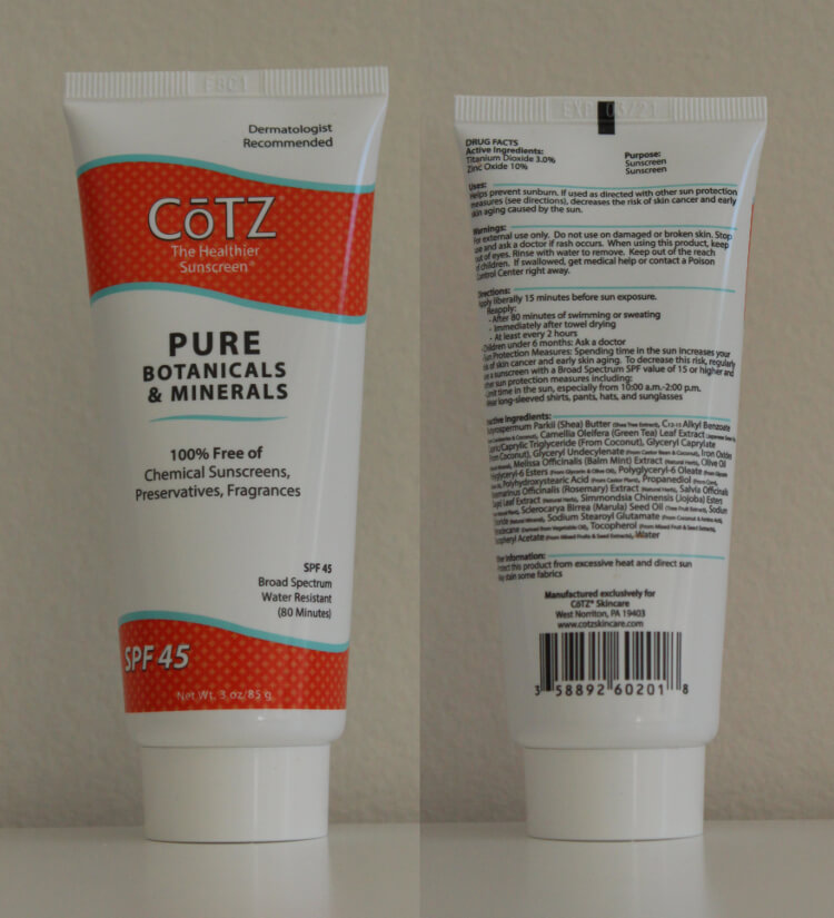 CoTZ Pure Botanical And Minerals Bottle