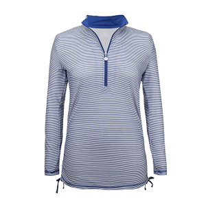UV Skinz Long Sleeve Half-Zip Ruched Sun Shirt