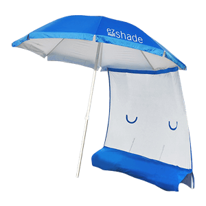 ezShade Steel Beach Umbrella & Sun Shield